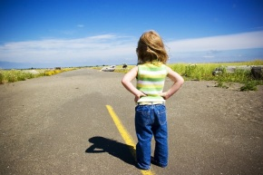 girl and road
