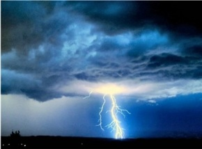 lightening and clouds