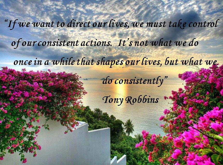 tony robbins consistency